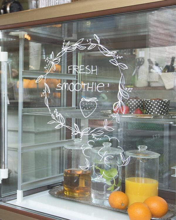 Fensterschablone Securit Pflanzenkranz