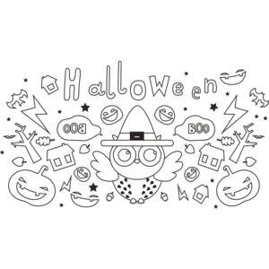 Halloween Fensterschablone zum Nachzeichnen von Securit