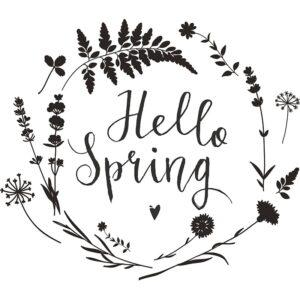 Hello Spring Fensterschablone zum Nachzeichnen Securit
