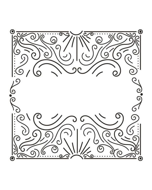 Kreidemarker Fensterschablone kreative Formen