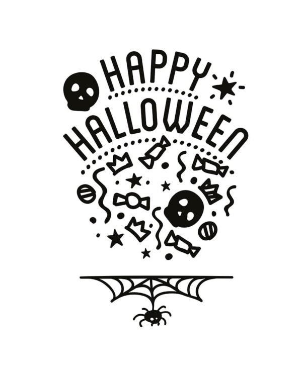 Kreidemarker Schablone Halloween Securit