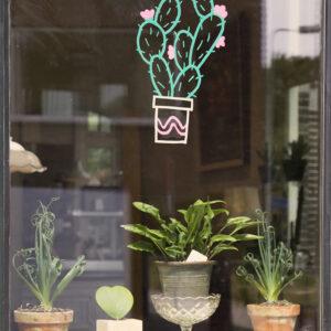 Pflanzen Fensterschablone Securit