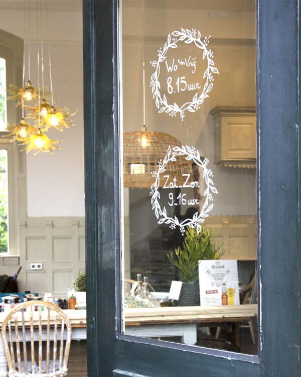 Schablone für Fenster zum Nachzeichnen mit Kreidemarker