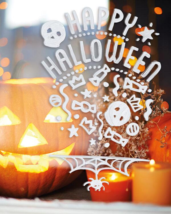 Schablone für Fenstermarker Halloween