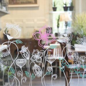 Securit Fensterschablonen Blumen