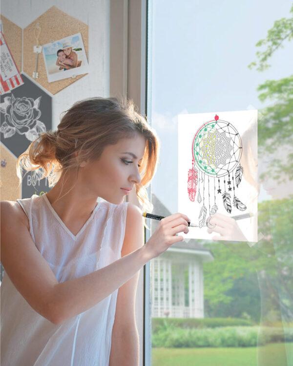 Securit Fensterschablonen Traumfänger zum Nachzeichnen