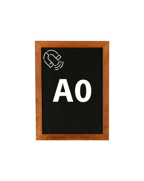 Kreidetafel DIN A0 magnetisch mit dunklem Holzrahmen günstig online kaufen