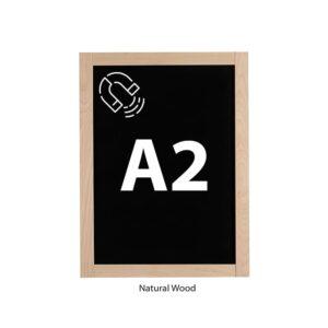Kreidetafel Magnetisch DIN A2 mit Holzrahmen Slide In Naturbelassen