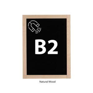 Kreidetafel magnetisch mit natürlichem Holzrahmen B2 Format