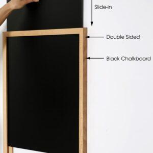 Wandkreidetafel Slide In mit Holzrahmen in Buche naturbelassen
