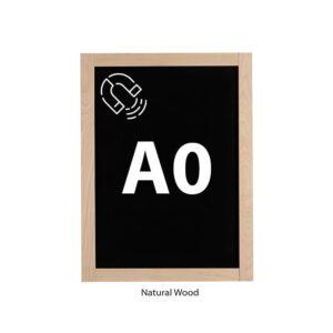 grosse Wandkreidetafel magnetisch DIN A0 mit Holzrahmen natur Slide In